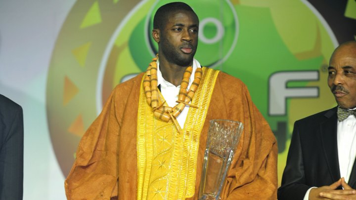 Yaya Toure with his CAF Award