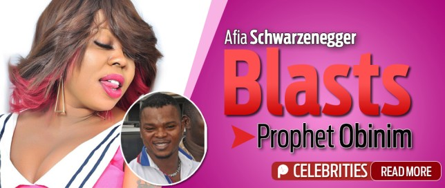 Afia Schwarzenegger and Bishop Obinim