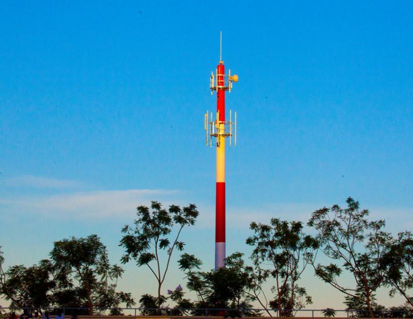The New mast of 4G in Nyamirambo. (Timothy Kisambira)
