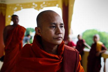 Wirathu spoke at a rally where he criticised the UN and personally attacked the UN envoy