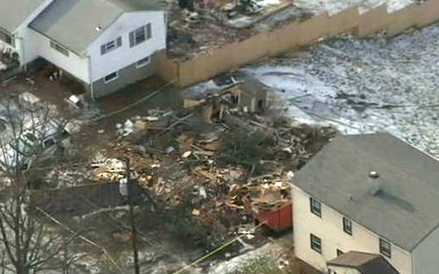 James Rhein bulldozes his home while his wife Diane Andryshak is out for the day Photo: NBC