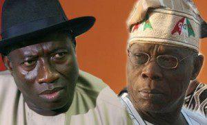 Goodluck Jonathan and Olusegun Obasanjo