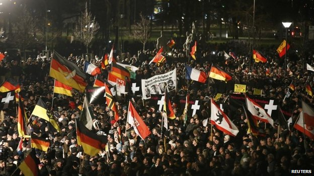 Pegida protesters ignored calls from politicians to stay at home