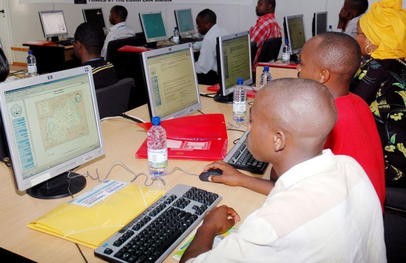 Children using internet