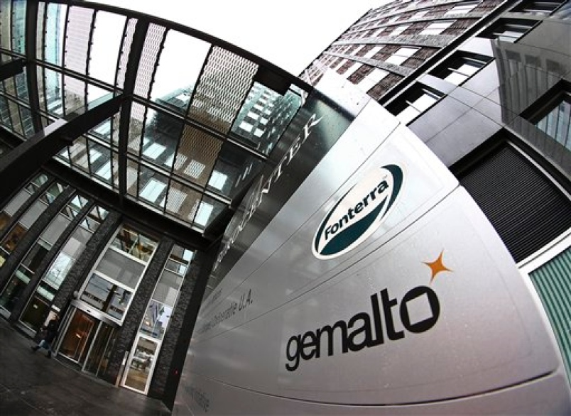 """The building that houses the head office of Gemalto, maker of """"subscriber identity modules"""", or SIM cards, in Amsterdam, Netherlands, Friday, Feb. 20, 2015. Britain's electronic spying agency, in cooperation with the National Security Agency, hacked into the networks of the Dutch company to steal codes that allow both governments to eavesdrop on mobile phones worldwide, according to documents given to journalists by Edward Snowden. PETER DEJONG/AP"""