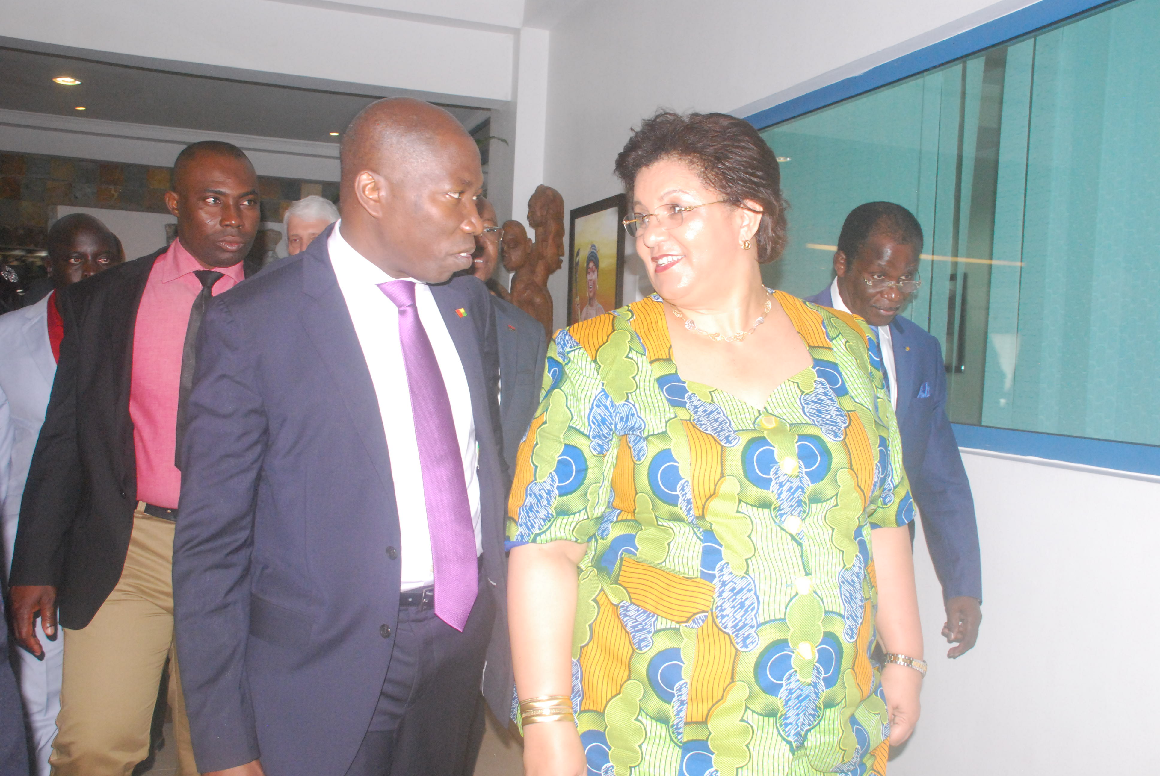 Ms Hannah Serwaah Tetteh (right), Minister of Foreign Affairs and Regional Integration and Mr Domingos Simoes Pereira, Prime Minister of Guinea-Bissau