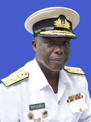Rear Admiral Geoffrey Mawuli Biekro, the Chief of Naval Staff of the Ghana Armed Forces