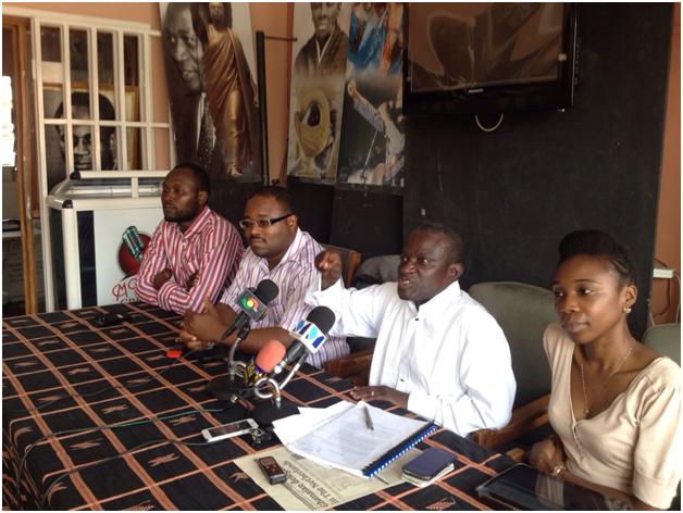 left to right (Duke Tagoe, Raymond Okrofu, Yaw Opoku and Kate Nkansah of the ASG