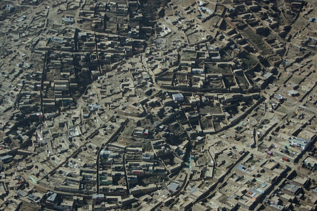 Photo taken on April 10, 2015 shows a general view of the Kabul city in Kabul, Afghanistan. (Xinhua/Ahmad Massoud)