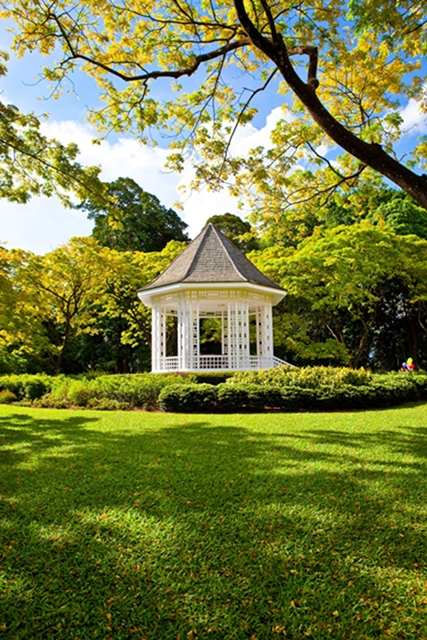 File photo provided by the United Nations Educational, Scientific and Cultural Organization (UNESCO) shows the Bandstand in the Singapore Botanic Gardens. The Singapore Botanic Gardens is now a UNESCO World Heritage Site after it was inscribed at the 39th session of the World Heritage Committee in Bonn, Germany, local TV Channel NewsAsia reported on July 4, 2015. (Xinhua)