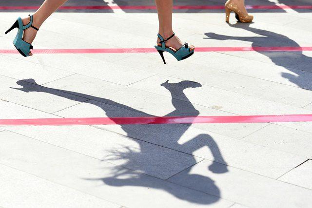 Participants run during a
