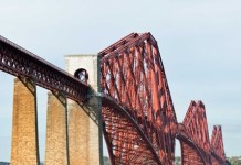 File photo provided by Historic Scotland shows the Forth Bridge in Scotland, northern Britain. The world-famous bridge was officially inscribed as a United Nations Educational, Scientific and Cultural Organizations (UNESCO) World Heritage site on July 5, becoming Britain's 29th World Heritage site. (Xinhua/Historic Scotland)(azp)