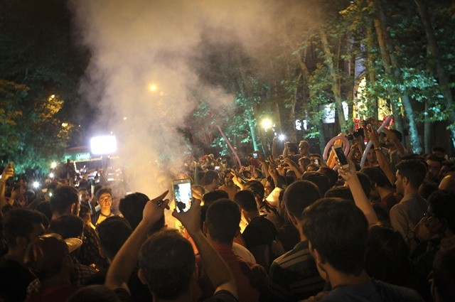 "Iranians celebrate the nuclear agreement in Tehran, Iran, on July 14, 2015. The deal ushered in a new era for Iran's relations with the world. ""If the deal is implemented, the wall of distrust between Iran and western powers will be gradually demolished,"" Iranian President Hassan Rouhani said. (Xinhua/Ahmad Halabisaz)"