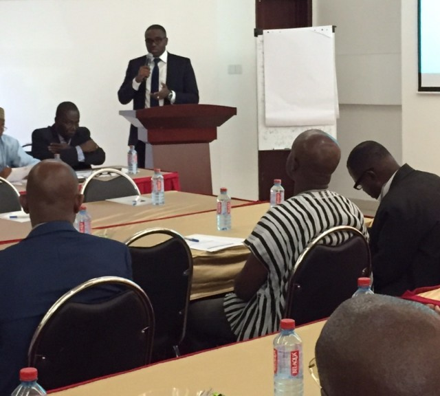 Gabriel Opoku-Asare speaking at the workshop