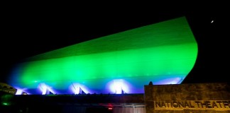 The National Theatre after illuminated by Philips