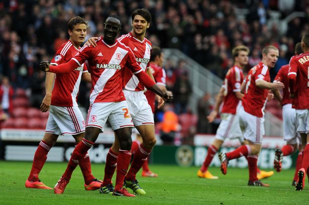 Albert Adomah netted a double for Boro