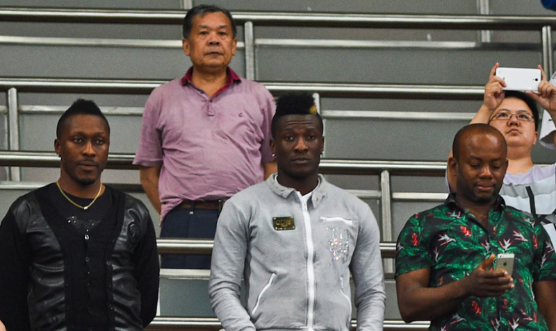 Asamoah Gyan was in the stands to see Shanghai in action for the first time