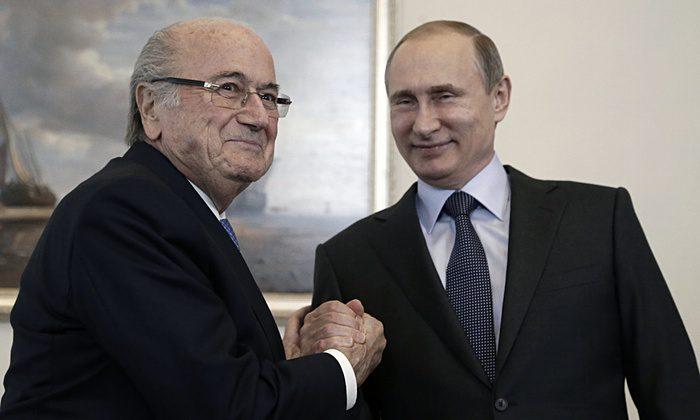 Sepp Blatter and Vladmir Putin