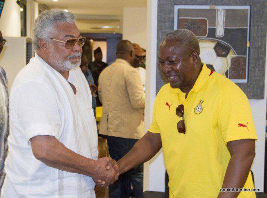 President John Mahama meets ex-president Jerry John Rawlings