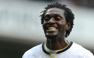 Emmanuel Adebayor will join his friend and Ghana striker Jordan Ayew to reunite with coach Tim Sherwood at Aston Villa after terms were agreed with Tottenham Hotspur.