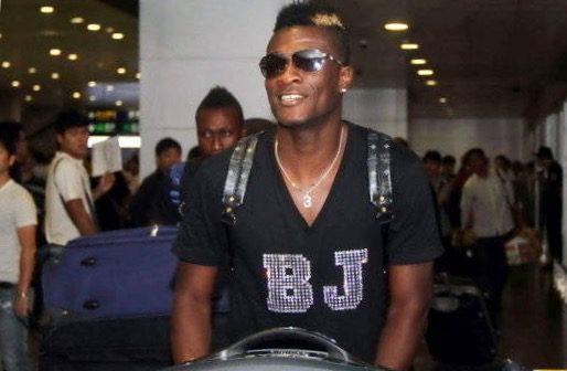 Asamoah Gyan is in Shanghai
