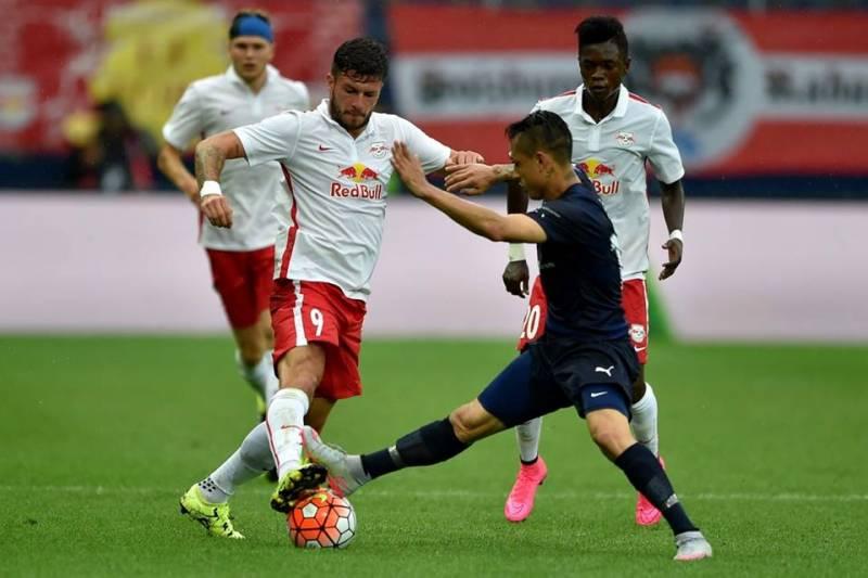 Ghana starlet David Atanga watches on his team-mates attack a Malmo FF player