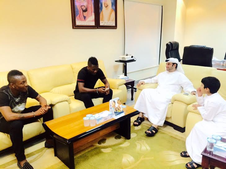 Gyan in a meeting with the Al Ain board on Tuesday