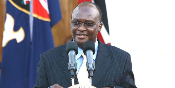 Health Cabinet Secretary James Macharia