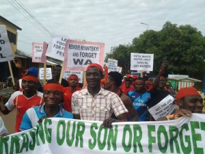 Residents of Wa, the Upper West Regional Capital of Ghana took to the streets this morning in a massive demonstration against the government for witch hunting the President of the Ghana Football Association with the release of the White Paper after the Presidential Commission of Inquiry submitted their report to His Excellency John Dramani Mahama.
