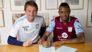Ghana striker Jordan Ayew has declared that he is the 'happiest man in the world' after sealing his dream move to play in the English Premier League with Aston Villa on Monday.