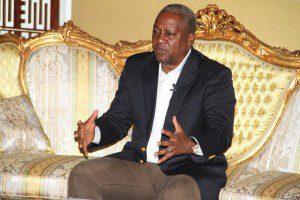 Prseident John Dramani Mahama