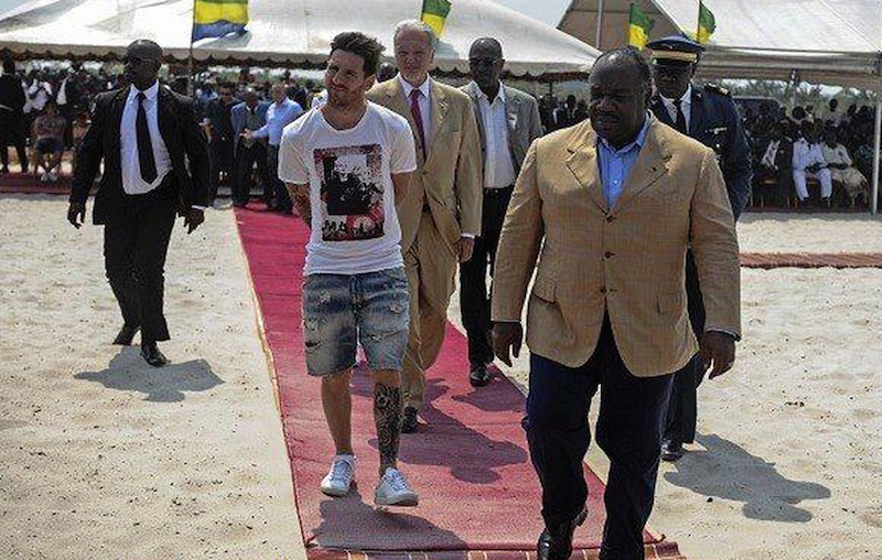 Lionel Messi at Gabon at the weekend