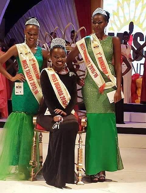 From left, Engrid Wanyama, Zahara Muhammad Nakiyaga and Juliana Nabwowe