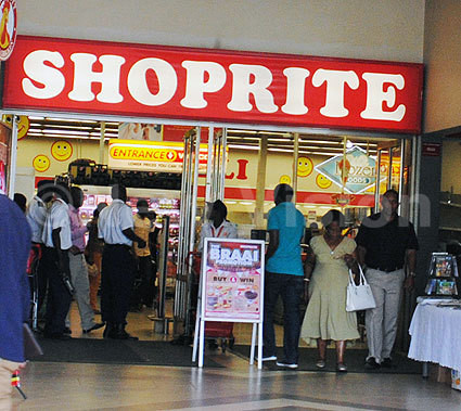 Kampala Capital City Authority(KCCA) health team closed Shoprite Lugogo branch in picture. Photos/ Mary Kansiime