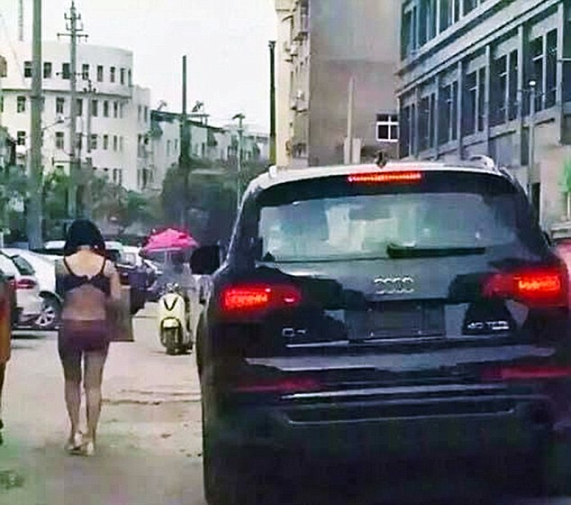 Driving slowly alongside the poor woman, the man's actions was reportedly revenge for an alleged affair