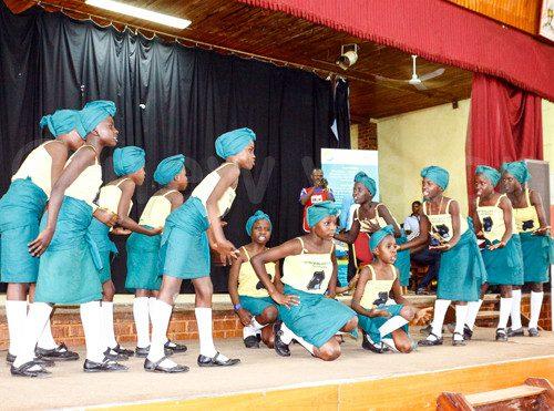 Winterland Primary School reciting a poem at the convention at Nsambya Sharing Hall. Photo by Edward Kisoma