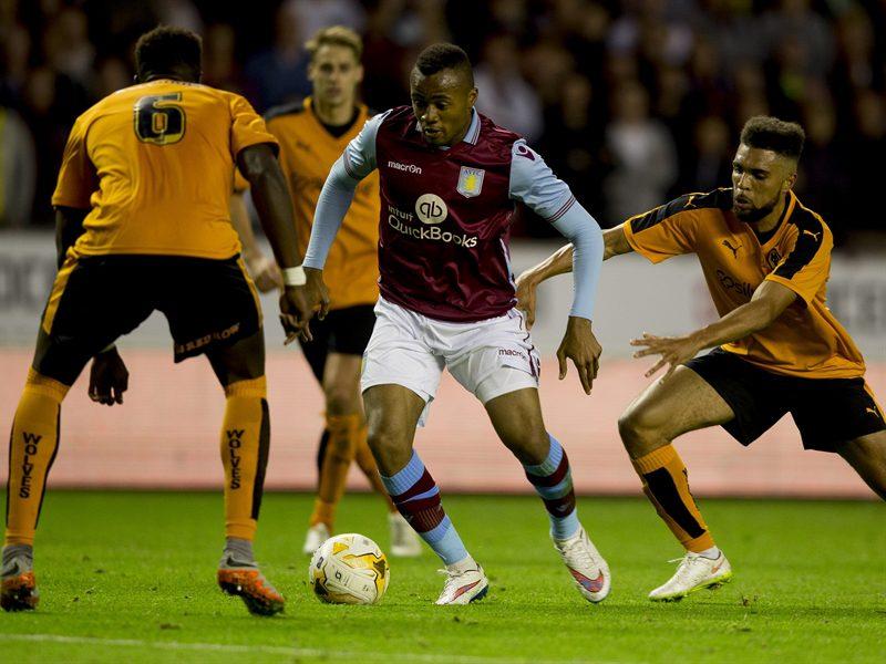 Ghana International Jordan Ayew evading defenders in his few minutes in the game