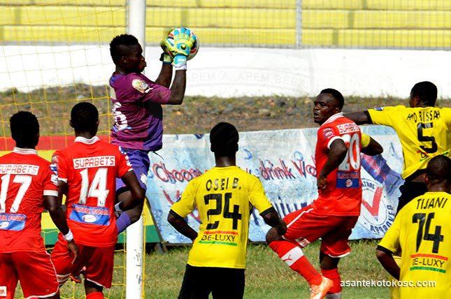 Asante Kotoko vrs AshGold during the MTN FA cup semi-finals clash