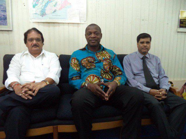 from:  left, Prakash Bhatt, Dr George Dawson-Ahmoah, and N. Venkatesh