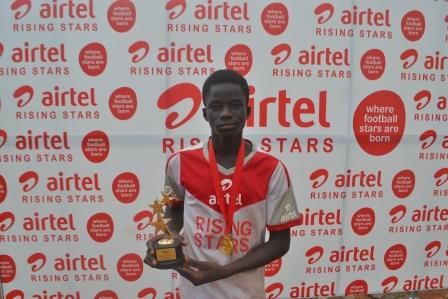 : Abubakar Abdullai Malik, overall male best player of Airtel Rising Stars Zone 4 competition, is one of the Three to get Black Starlet call-up.