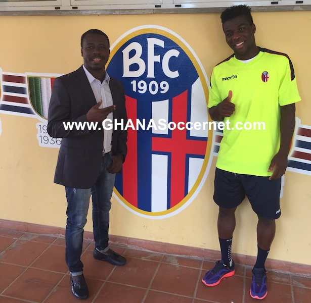 Godfred Donsah and his agent Oliver Arthur
