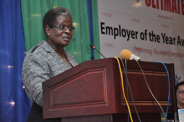 Minister for Labour and Employment, Mrs Gaudentia Kabaka