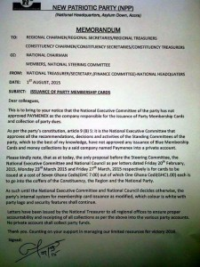 The counter memo from the National Treasurer