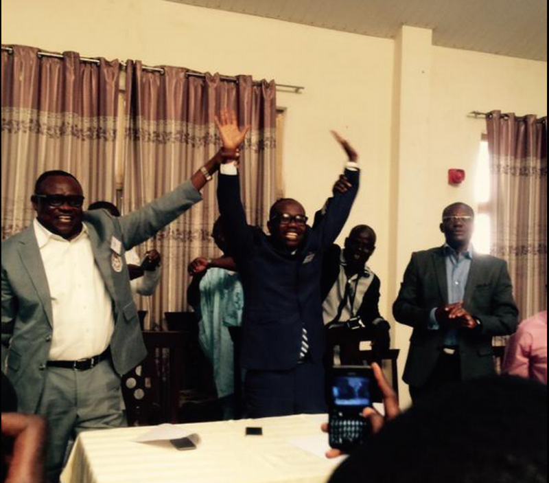 Kwesi Nyantakyi after his re-election in Tamale