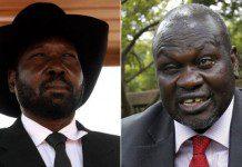 Riek Machar and Kiir