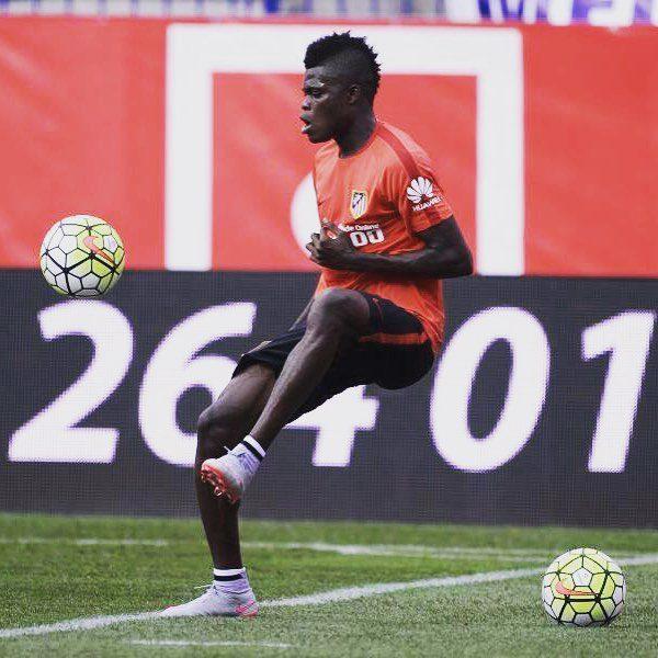 Thomas Partey has resumed training with Atletico Madrid
