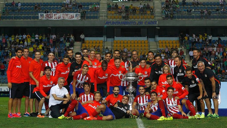 Thomas Partey with Atletico Madrid team for medals