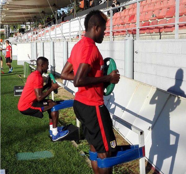 Thomas Partey training at Atletico Madrid