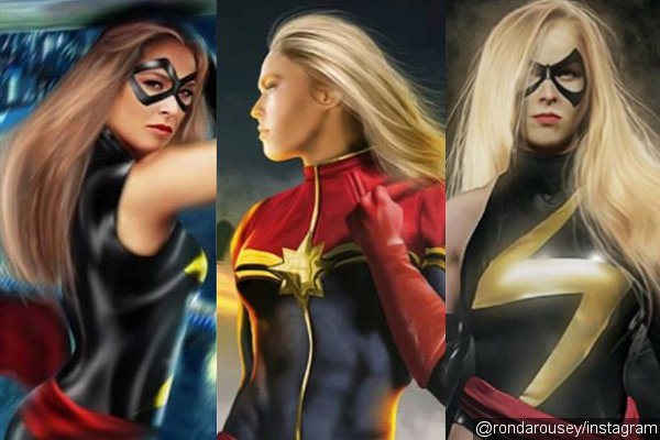 ronda-rousey-artworks-herself-as-captain-marvel