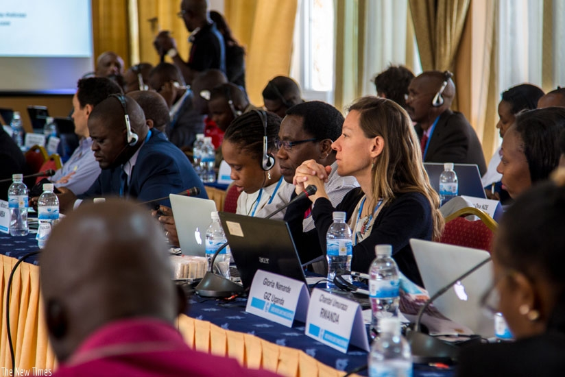 Some of the participants at the Nationally Appropriate Mitigation Actions workshop in Kigali yesterday. (Doreen Umutesi)